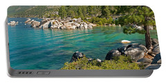 Boulders At Sand Harbor, Lake Tahoe Portable Battery Charger