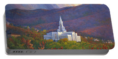 Bountiful Temple In The Mountains Portable Battery Charger