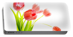 Tulips Flower Bouque In Digital Watercolor Portable Battery Charger