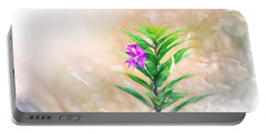 Flower In Digital Watercolor Portable Battery Charger