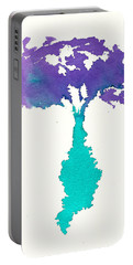 Portable Battery Charger featuring the painting Bouquet Abstract 2 by Frank Bright