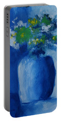 Bouquet In Blue Shadow Portable Battery Charger