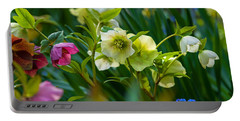 Portable Battery Charger featuring the photograph Bouquet Of Lenten Roses by Jordan Blackstone
