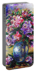 Bouquet Of Scents Portable Battery Charger by Vesna Martinjak
