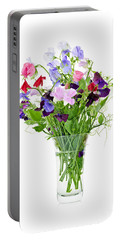 Bouquet Of Sweet Pea Flowers Portable Battery Charger