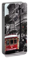 Bourbon And Canal Trolley Cropped Portable Battery Charger by Tammy Wetzel
