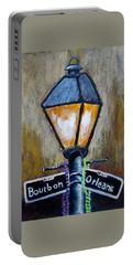 Portable Battery Charger featuring the painting Bourbon Light by Suzanne Theis