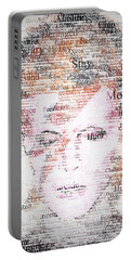 Bowie Typo Portable Battery Charger by Taylan Apukovska
