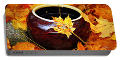 Portable Battery Charger featuring the photograph Bowl And Leaves by Rodney Lee Williams