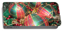 Bowl Of Christmas Colors Portable Battery Charger