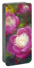 Bowls Of Beauty - Alaskan Peonies Portable Battery Charger