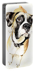 Portable Battery Charger featuring the photograph Boxer Dog Poster by Peter v Quenter