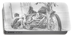 Boy And Motorcycle Portable Battery Charger