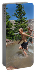 Boys Cool Off In Milk Lake Portable Battery Charger