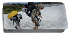 Boys Cross A Snowfield Above Five Point Portable Battery Charger