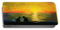 Boys In The Sunset Portable Battery Charger