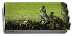 Portable Battery Charger featuring the photograph Boys Will Be Boys by Kathy Barney