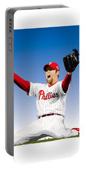 Brad Lidge Champion Portable Battery Charger by Scott Weigner