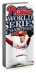 Brad Lidge Ws Champs Logo Portable Battery Charger by Scott Weigner