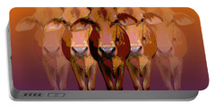 Brahman Cow Portable Battery Charger by Jean luc Comperat