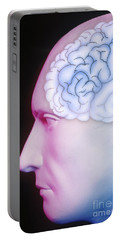 Brain Illustration Portable Battery Charger
