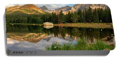 Brainard Lake Reflections Portable Battery Charger by Ronda Kimbrow