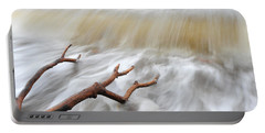 Branches In Water Portable Battery Charger by Randi Grace Nilsberg