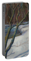 Brandywine River In Snow Portable Battery Charger