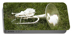Portable Battery Charger featuring the photograph Brass In Grass by Carol Lynn Coronios