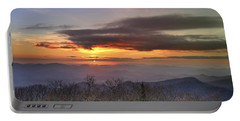 Brasstown Bald At Sunset Portable Battery Charger