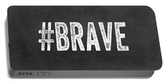Brave Card- Greeting Card Portable Battery Charger by Linda Woods