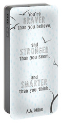 Braver Stronger Smarter Portable Battery Charger by Heather Applegate