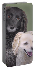 Brea And Randy Portable Battery Charger by Jane Girardot