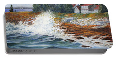 Breakers At Pemaquid Portable Battery Charger
