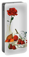 Portable Battery Charger featuring the photograph Breakfast For Lovers by Elf Evans
