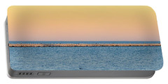 Portable Battery Charger featuring the photograph Breaking The Sunset by Steven Santamour