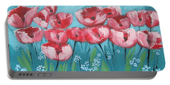 Brezzy Poppies Portable Battery Charger