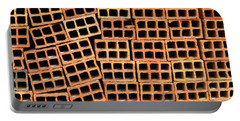 Brick Abstract Portable Battery Charger by Vivian Christopher