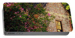 Portable Battery Charger featuring the photograph Brick And Myrtle by Rodney Lee Williams