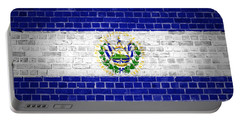 Brick Wall El Salvador Portable Battery Charger by Antony McAulay