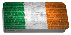 Brick Wall Ireland Portable Battery Charger by Antony McAulay