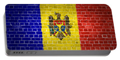 Brick Wall Moldova Portable Battery Charger by Antony McAulay