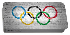 Brick Wall Olympic Movement Portable Battery Charger
