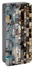 Portable Battery Charger featuring the photograph Bricks Of Turquoise And Gold by Stephanie Grant