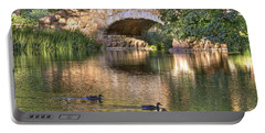 Portable Battery Charger featuring the photograph Bridge At Stow Lake by Kate Brown