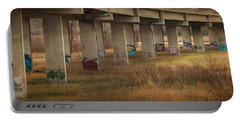 Portable Battery Charger featuring the photograph Bridge Graffiti by Patti Deters