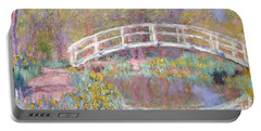Bridge In Monet's Garden Portable Battery Charger by Claude Monet