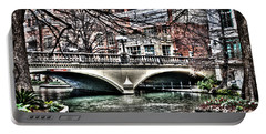 Portable Battery Charger featuring the photograph Bridge Over San Antonio River by Deborah Klubertanz