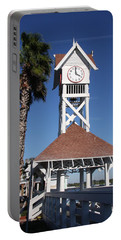 Bridge Street Pier And Clocktower  Portable Battery Charger by Christiane Schulze Art And Photography