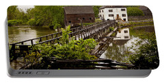 Portable Battery Charger featuring the photograph Bridge To Philipsburg Manor Mill House by Jerry Cowart
